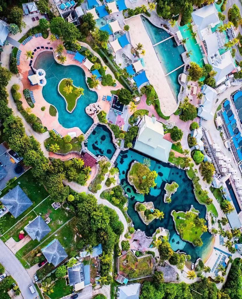 Bird's eye view of Grand Cayman's Turtle Farm (Taken by Perrylevy365 on Instagram)